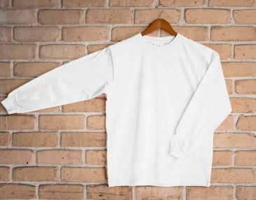 Childrens Long Sleeved White Tee Shirt