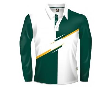 Green Colour Block Jersey
