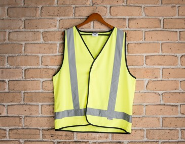 High Visibility X Pattern Safety Vest