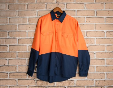 Newell Hi Vis Cotton Work Shirt Long Sleeves