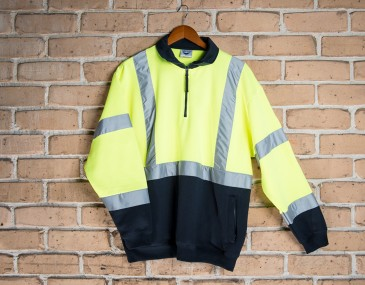 Safety Fleece Jumper Hi Vis