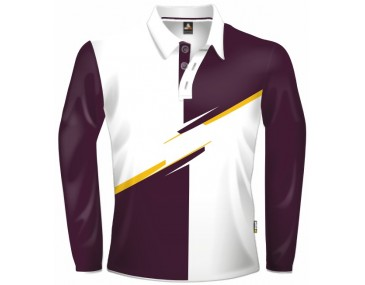 Burgundy Colour Block Jersey