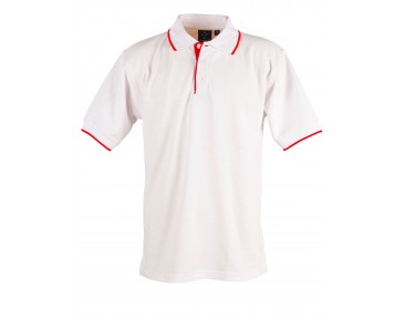 Collar Tip Mens Polo Shirt