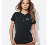 Ladies Custom Decorated Henley T-Shirts