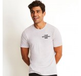 Logo Emblazoned Polycotton Crew Mens Shirts