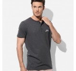 Men's Henley Tees With Logo Branding