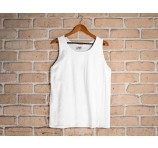 Comfort Cotton Unisex White Singlet