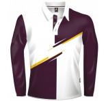 Burgundy Colour Block Jersey