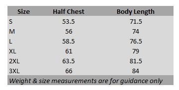 T-Shirt Measurement Chart