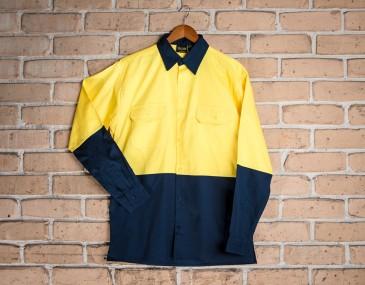 Ashbourne Hi Vis Cotton Shirt Long Sleeve