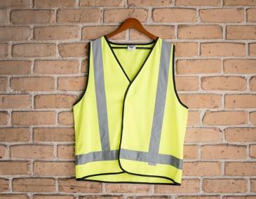 High Visibility X Pattern Safety Vest