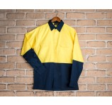 Ashbourne Hi Vis Cotton Shirt Long Sleeve