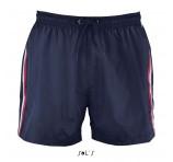 Mens Tri Colour Swim Shorts With Logo
