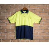 Short Sleeve Cotton Back Safety Polo