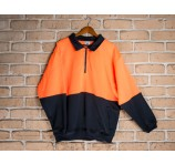 Warm Half Zip Fleecy Hi Visibility Jumper