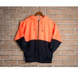 Zippered Hi Vis Fleece Hoodie